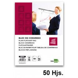 Bloc de papel liso para caballetes de convención liderpapel en formato 63x84 cm. bolsa individual de 50 uds.