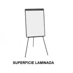 Caballete de convención q-connect superficie laminada blanca en formato 70x104 cm.