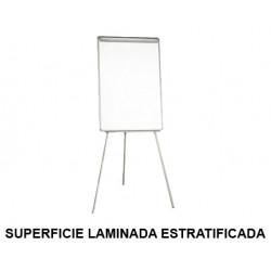 Caballete de convención q-connect superficie laminada estratificada blanca en formato 71x98 cm.