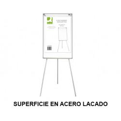 Caballete de convención q-connect superficie en acero lacado blanco en formato 71x98 cm.