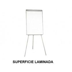 Caballete de convención q-connect superficie laminada blanca en formato 82,5x61 cm.