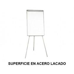 Caballete de convención q-connect superficie en acero lacado blanco en formato 82,5x61 cm.
