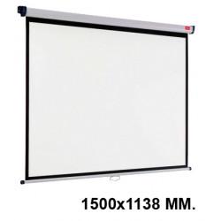 Pantalla de proyección mural nobo en formato 1500x1138 mm. color blanco mate.
