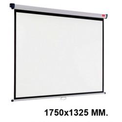 Pantalla de proyección mural nobo en formato 1750x1325 mm. color blanco mate.