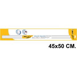 Pizarra adhesiva blanca en rollo bic velleda en formato 45x50 cm. + marcador pizarra blanca bic velleda 1741 negro.
