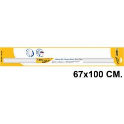 Pizarra adhesiva blanca en rollo bic velleda en formato 67x100 cm. + marcador pizarra blanca bic velleda 1741 negro.