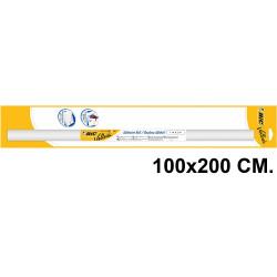 Pizarra adhesiva blanca en rollo bic velleda en formato 100x200 cm.