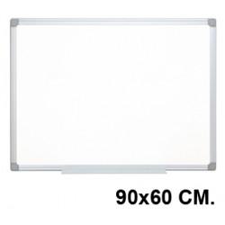 Pizarra de acero lacado blanco con marco de aluminio q-connect en formato 90x60 cm.