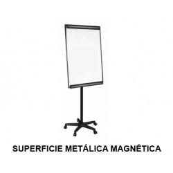 Caballete de convención móvil q-connect superficie metálica magnética blanca en formato 70x100 cm.