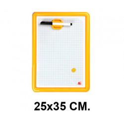 Pizarra magnética blanca liderpapel en formato 25x35 cm.