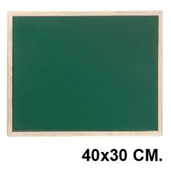 Pizarra verde con marco de madera de pino q-connect en formato 40x30 cm.