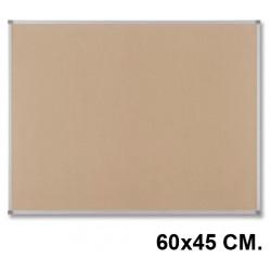 Tablero de corcho con marco de aluminio nobo classic en formato 60x45 cm.