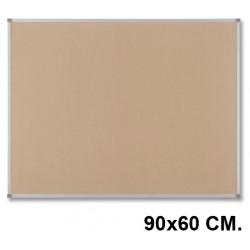 Tablero de corcho con marco de aluminio nobo classic de 90x60 cm.