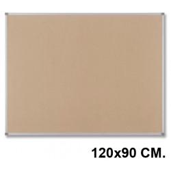 Tablero de corcho con marco de aluminio nobo classisc de 120x90 cm.
