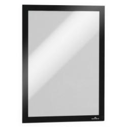 Marco informativo durable duraframe en formato din a-4, color negro, pack de 2 uds.