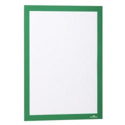 Marco informativo durable duraframe en formato din a-4, color verde, pack de 2 uds.