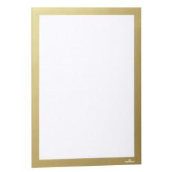 Marco informativo durable duraframe en formato din a-4, color oro, pack de 2 uds.