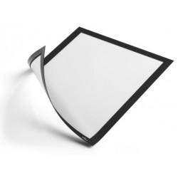 Marco informativo durable duraframe magnetic en formato din a-4, color negro, pack de 5 uds.