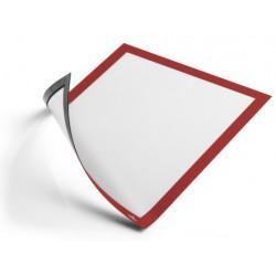Marco informativo durable duraframe magnetic en formato din a-4, color rojo, pack de 5 uds.