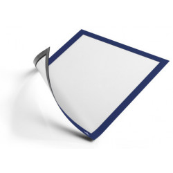Marco informativo durable duraframe magnetic en formato din a-4, color azul oscuro, pack de 5 uds.