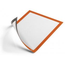 Marco informativo durable duraframe magnetic en formato din a-4, color naranja, pack de 5 uds.