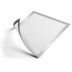 Marco informativo durable duraframe magnetic en formato din a-4, color plata, pack de 5 uds.
