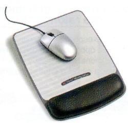 Alfombrilla para ratón 3m prevención total en color negro/gris metalizado.