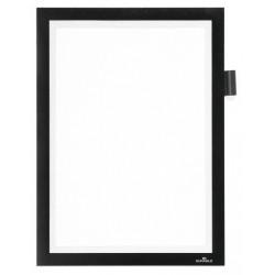 Marco informativo durable duraframe note en formato din a-4, color negro.