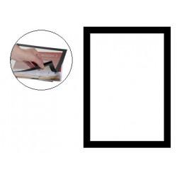Marco informativo q-connect magneto con adhesivo removible en formato din a-4, color negro, pack de 2 uds.