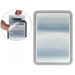 Marco informativo tarifold magneto adhesive en formato din a-4, color plata, pack de 2 uds.