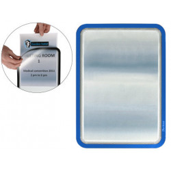 Marco informativo tarifold magneto adhesive en formato din a-4, color azul, pack de 2 uds.