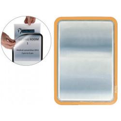 Marco informativo tarifold magneto adhesive en formato din a-4, color naranja, pack de 2 uds.