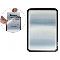 Marco informativo tarifold magneto adhesive en formato din a-4, color negro, pack de 2 uds.
