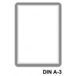 Marco informativo tarifold magneto magnetic en formato din a-3, color plata, pack de 2 uds.