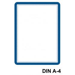 Marco informativo tarifold magneto magnetic en formato din a-4, color azul, pack de 2 uds.