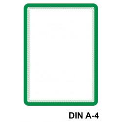 Marco informativo tarifold magneto magnetic en formato din a-4, color verde, pack de 2 uds.