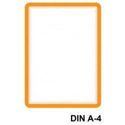 Marco informativo tarifold magneto magnetic en formato din a-4, color naranja, pack de 2 uds.