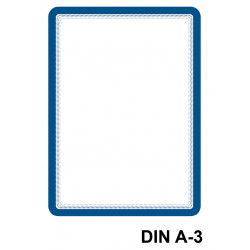 Marco informativo tarifold magneto magnetic en formato din a-3, color azul, pack de 2 uds.