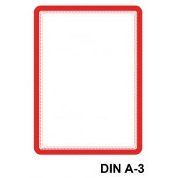 Marco informativo tarifold magneto magnetic en formato din a-3, color rojo, pack de 2 uds.
