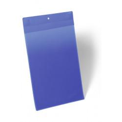 Funda magnética durable neodym en formato din a-4 vertical, color azul oscuro, pack de 10 uds.