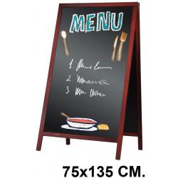 Pizarra caballete para hostelería liderpapel en formato 75x135 cm.