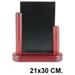 Pizarra de sobremesa para hostelería liderpapel en formato 21x30 cm.