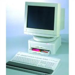 Soporte para monitor 3m ms102 en color gris claro.