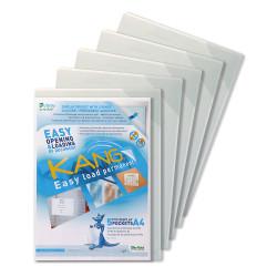 Funda con adhesivo permanente y cierre de esquina tarifold kang easy load en formato din a-4, pack de 5 uds.