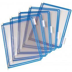 Funda en pvc con pivotes metálicos tarifold en formato din a-4 vertical, color azul, pack de 10 uds.