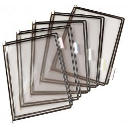 Funda en pvc con pivotes metálicos tarifold en formato din a-4 vertical, color negro, pack de 10 uds.