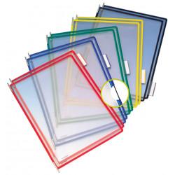 Funda en pvc con pivotes metálicos tarifold en formato din a-4 vertical, colores surtidos, pack de 10 uds.