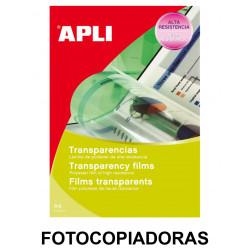 Transparencia en poliéster apli apta para fotocopiadoras en formato din a-4, caja de 100 uds.
