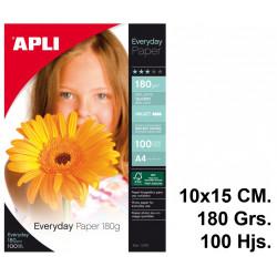 Papel ink-jet apli everyday glossy en formato 10x15 cm. de 180 grs/m². bolsa de 100 hojas.