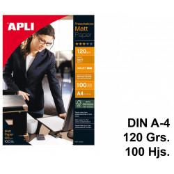 Papel ink-jet apli presentations matt en formato din a-4 de 120 grs/m². caja de 100 hojas.